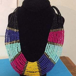"Aldo multi strand beaded necklace jewelry 16 1/2"""